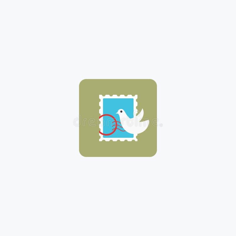 Marca del correo Icono de la marca del correo LOGOTIPO Ilustración del vector EPS 10 stock de ilustración