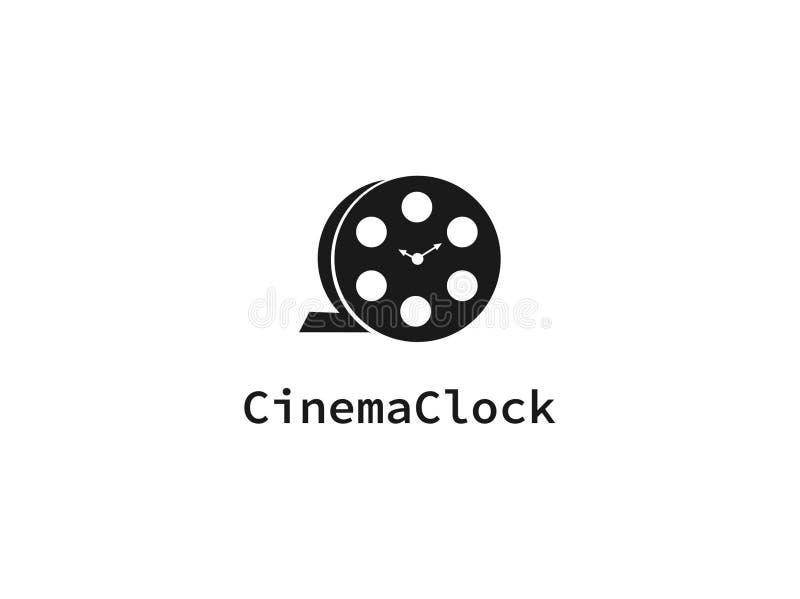Marca del reloj del cine para la plantilla del logotipo fotos de archivo libres de regalías
