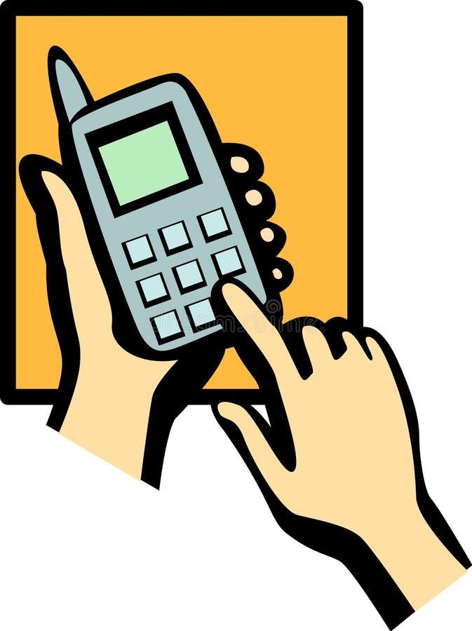 Marca del teléfono celular stock de ilustración