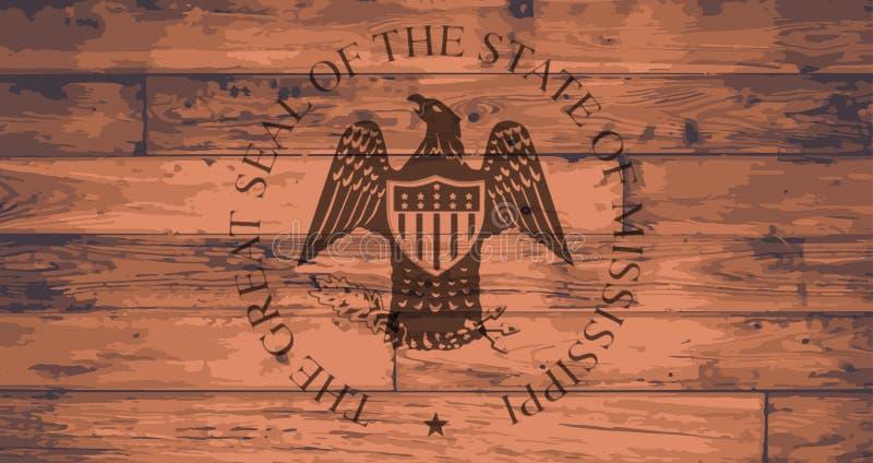 Marca della guarnizione dello stato del Mississippi illustrazione vettoriale