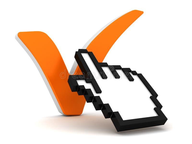 Marca do cursor e de verificação ilustração do vetor