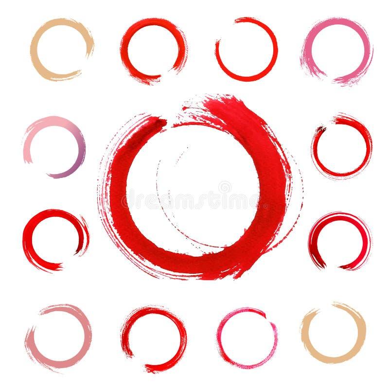 Marca do vidro de vinho isolada no fundo branco ilustração stock