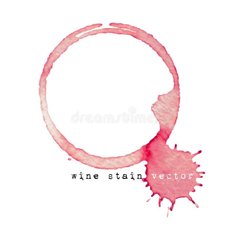Marca do vidro de vinho isolada no fundo branco ilustração do vetor
