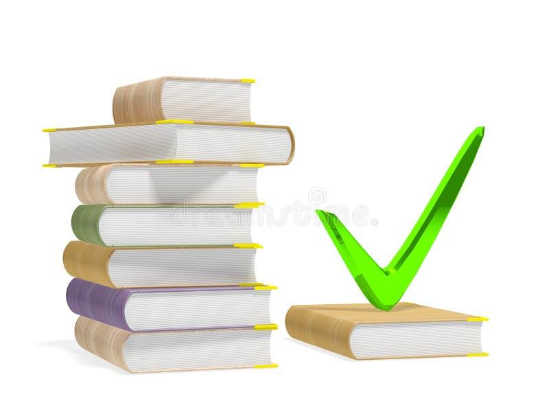 Marca e livro de verificação ilustração stock