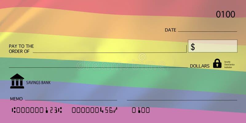 Marca em Branco Sinalizador Gay LGBTQ imagem de stock