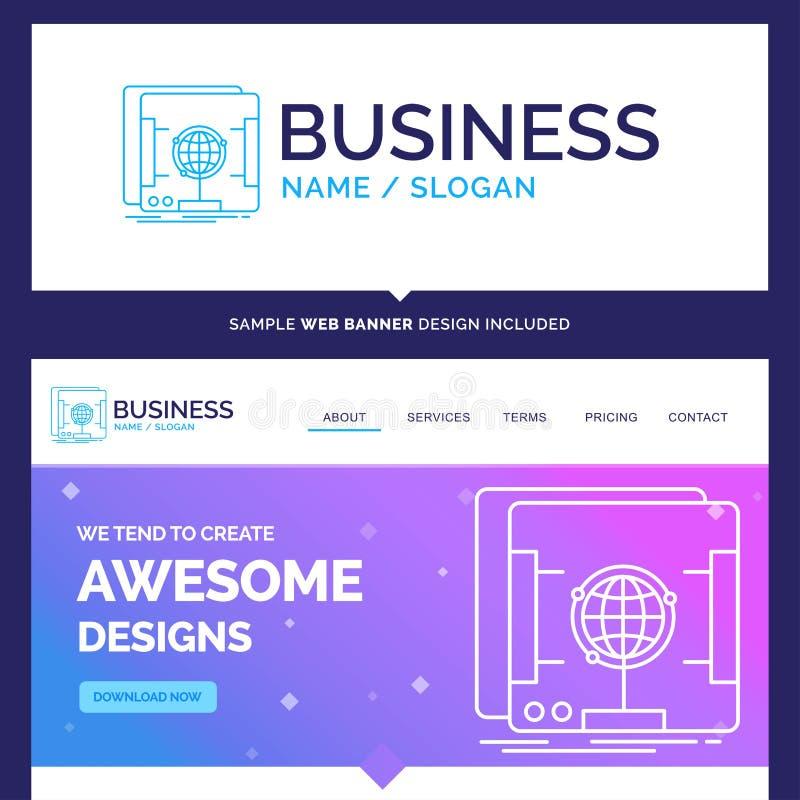 Marca hermosa del concepto del negocio 3d, dimensional, ológrafo stock de ilustración