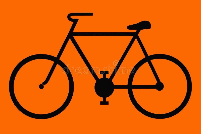 Marca informativa de la bicicleta libre illustration