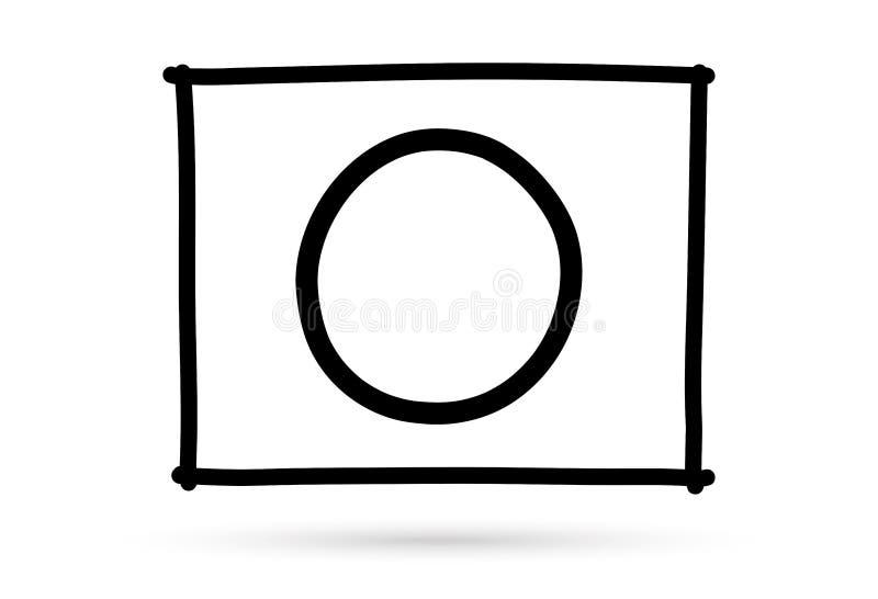 A marca popular do direito do s?mbolo o da lista de verifica??o isolou-se ilustração stock