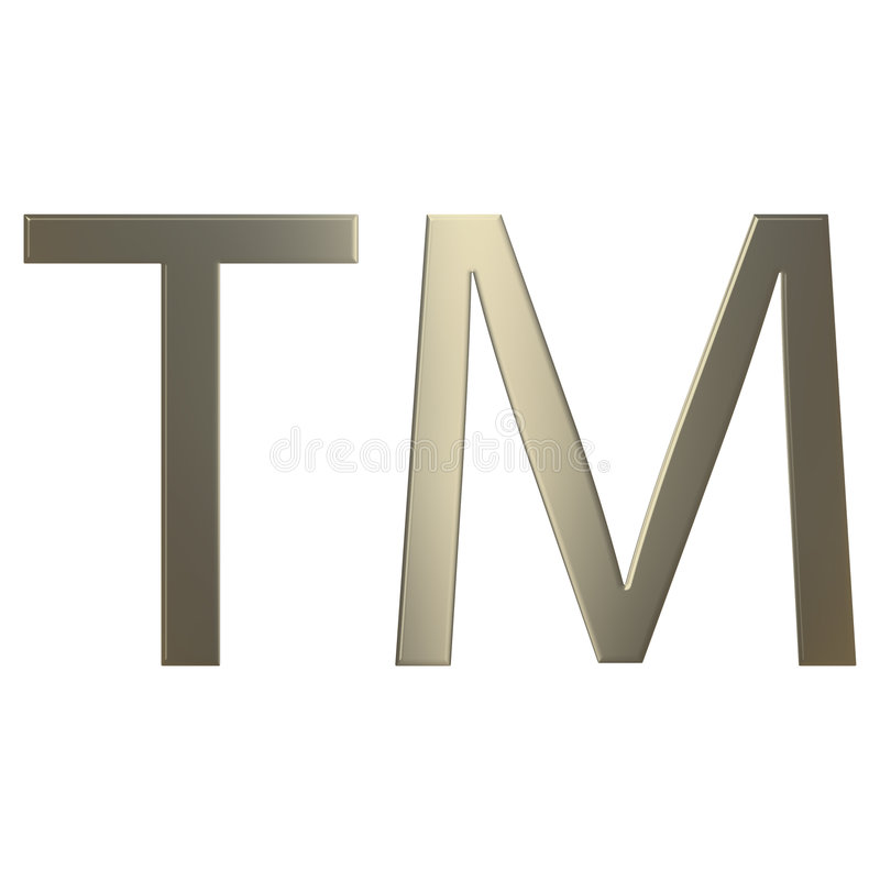 marca registrada do ouro 3d ilustração royalty free
