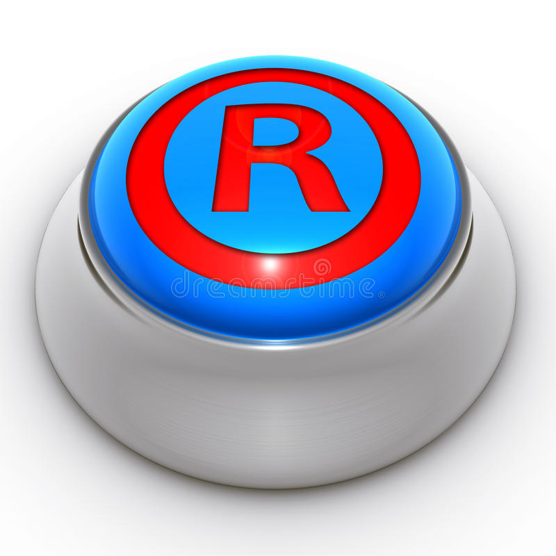 Marca registrada protegida botón ilustración del vector
