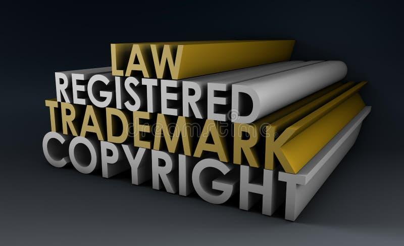 Marca registrada registado e dos direitos reservados ilustração do vetor