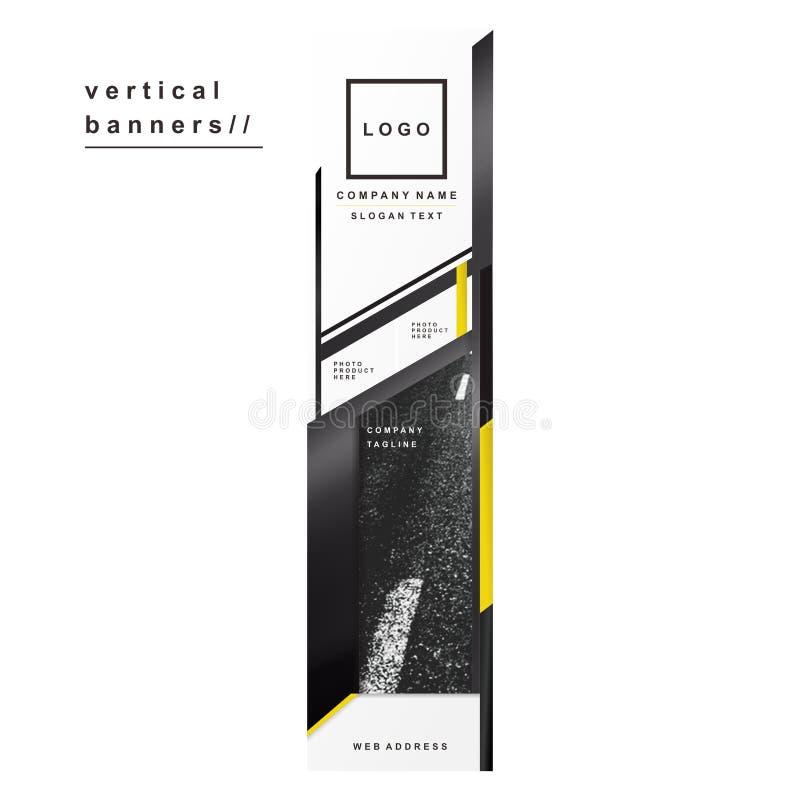 Marca verticale del metallo giallo del nero delle insegne di sport fotografie stock libere da diritti
