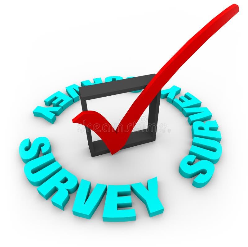 Marca y rectángulo de verificación de la encuesta libre illustration