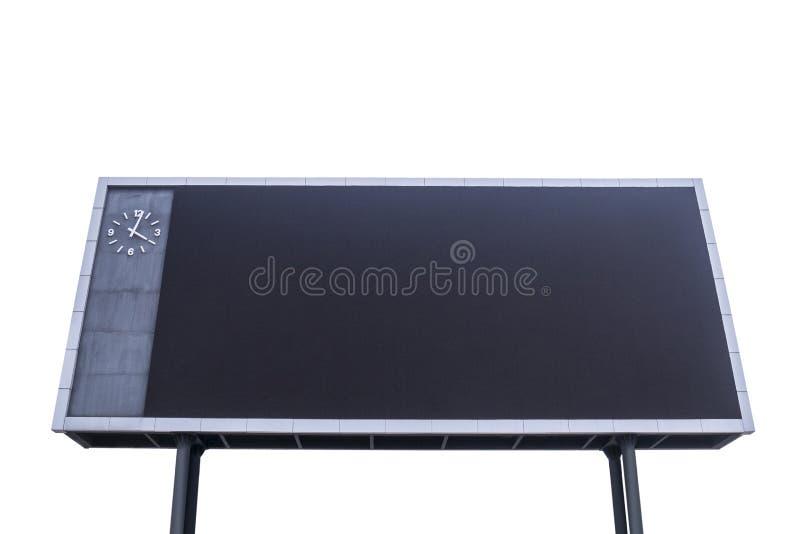 Marcador con la pantalla en blanco negra para divulgar eventos que se divierten imagen de archivo