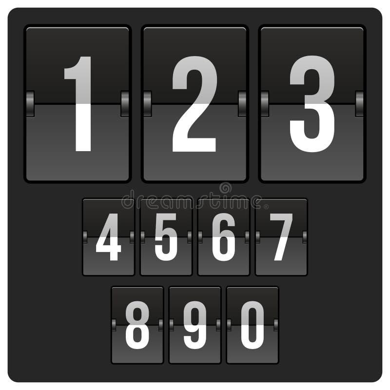 Marcador con números ilustración del vector