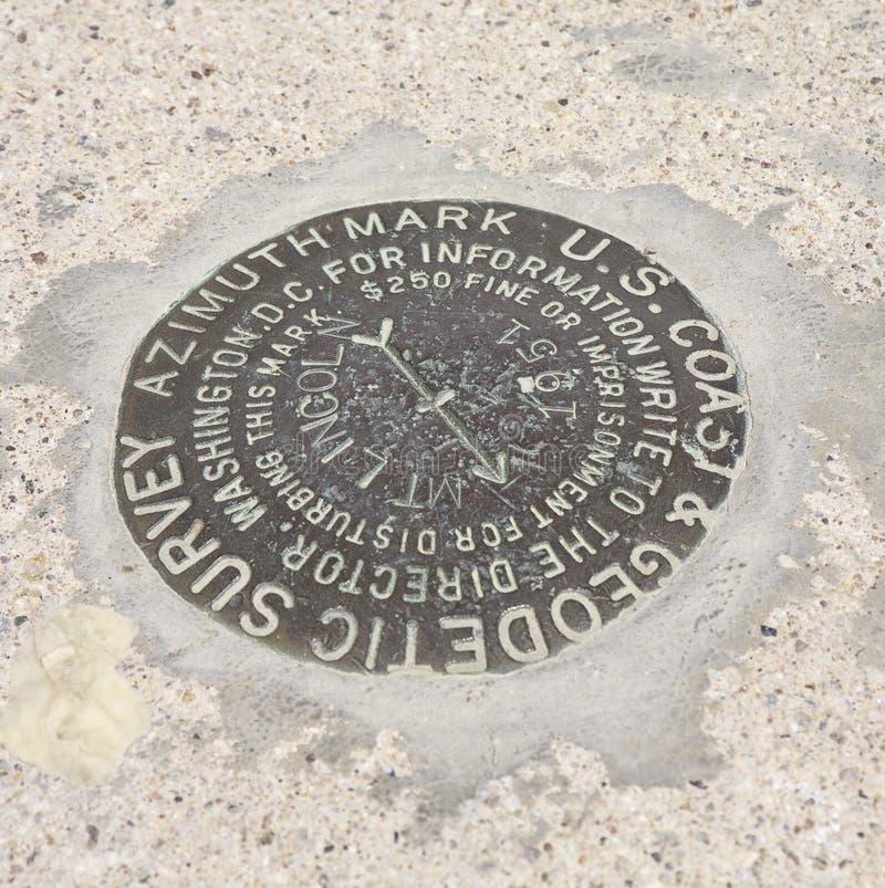 Marcador da avaliação geodésica fotografia de stock