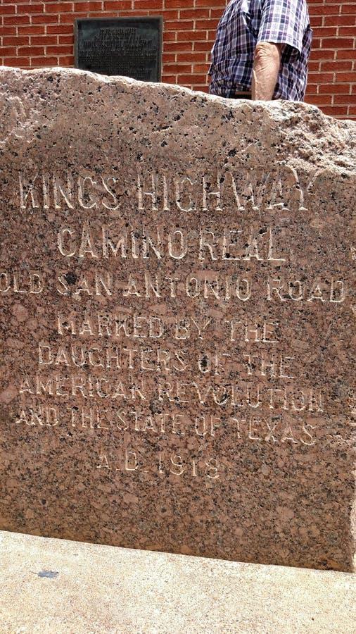 Marcador da estrada do ` s do rei imagens de stock royalty free