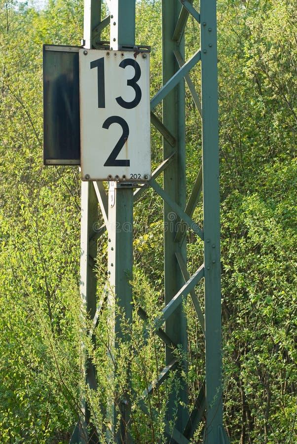 Marcador da milhagem da estrada de ferro foto de stock