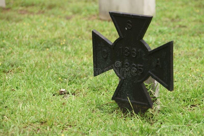 Marcador da sepultura de CSA fotografia de stock