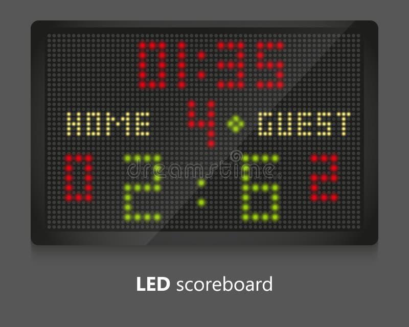 Marcador del LED ilustración del vector