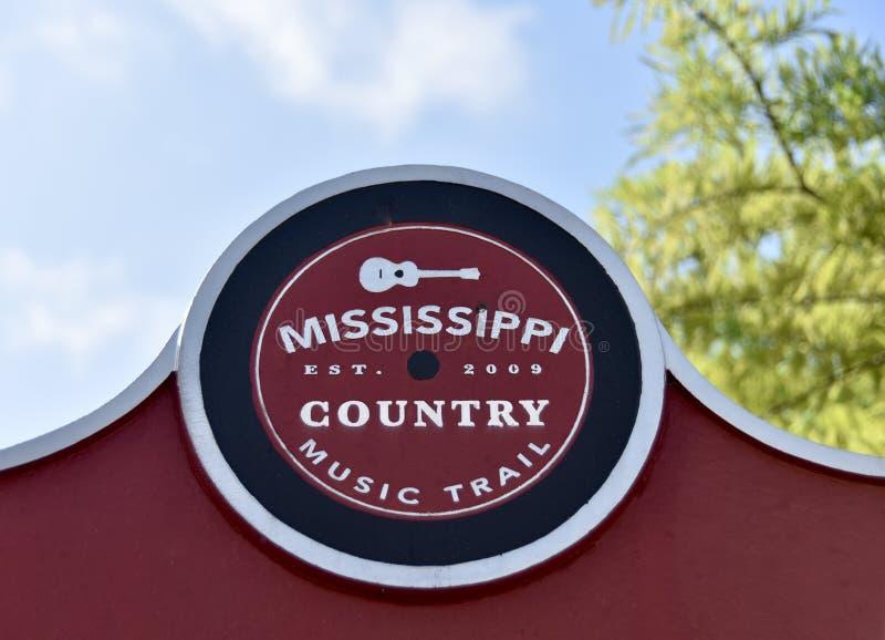 Marcador del rastro de la música country de Mississippi fotografía de archivo libre de regalías