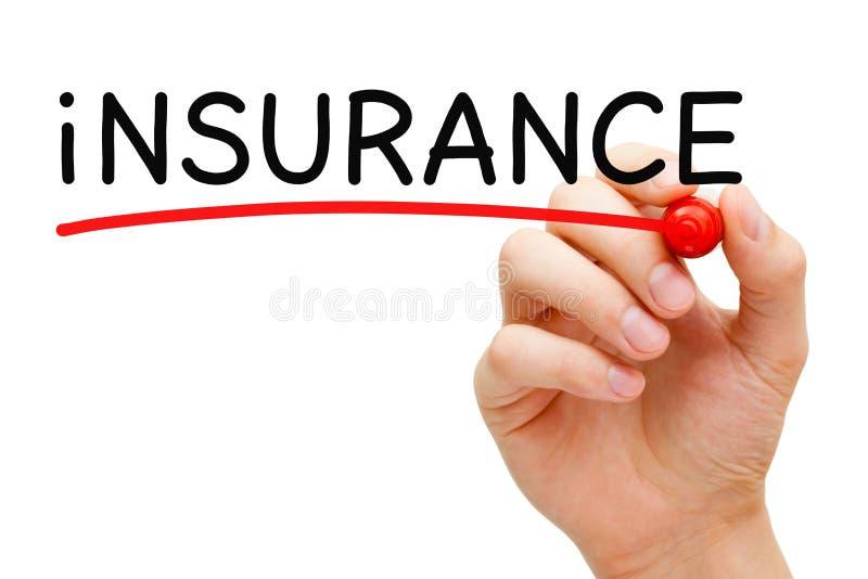 Marcador del rojo del seguro foto de archivo libre de regalías