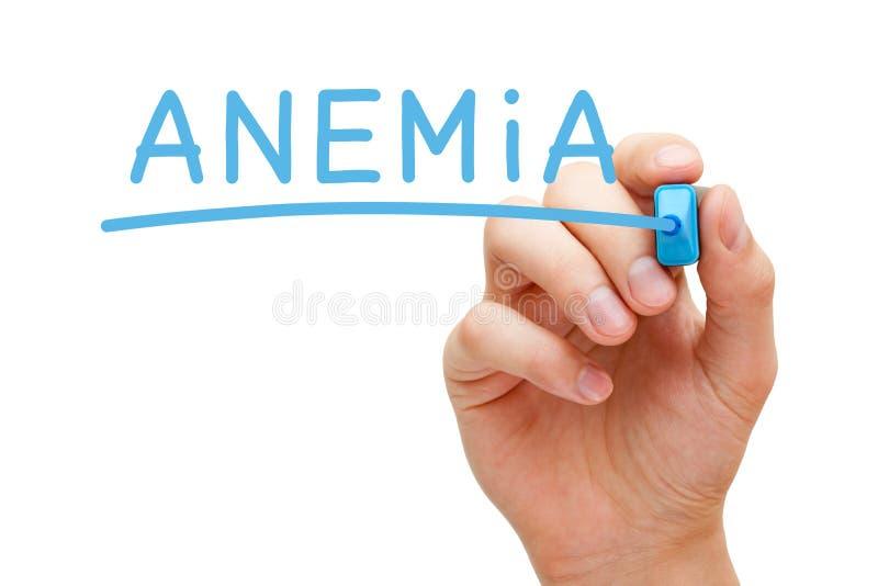 Marcador do azul da anemia imagem de stock