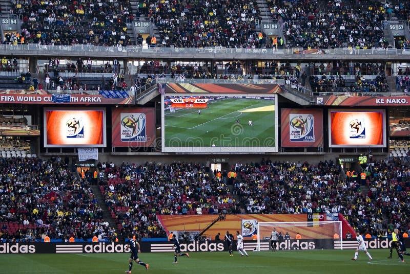 Marcador electrónico - WC 2010 de la FIFA fotografía de archivo