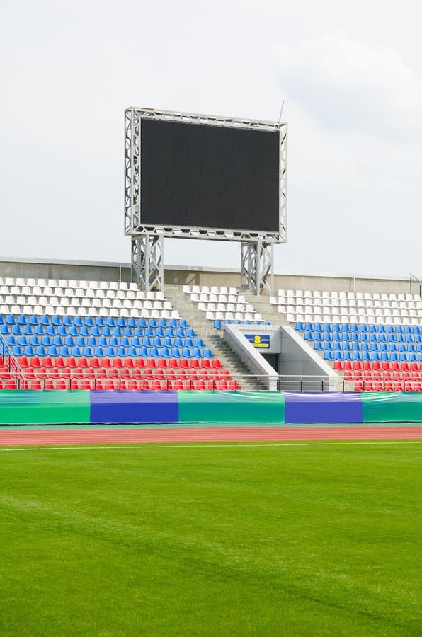 Marcador en el estadio foto de archivo