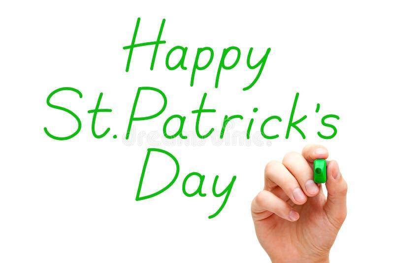 Marcador feliz do verde do dia de Patricks de Saint imagem de stock