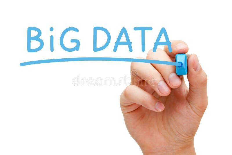 Marcador grande do azul dos dados fotografia de stock