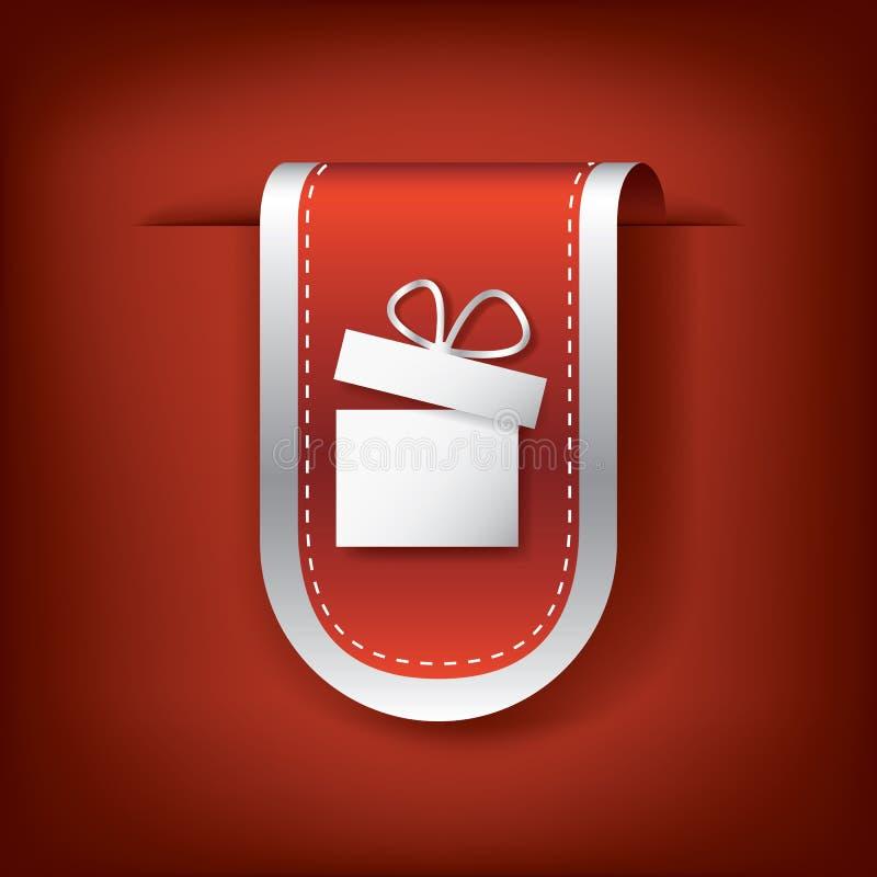 Marcador ou fitas verticais do Natal com ilustração stock
