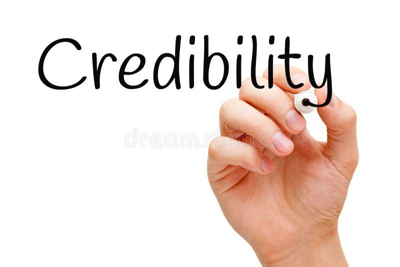 Marcador preto da credibilidade imagens de stock royalty free