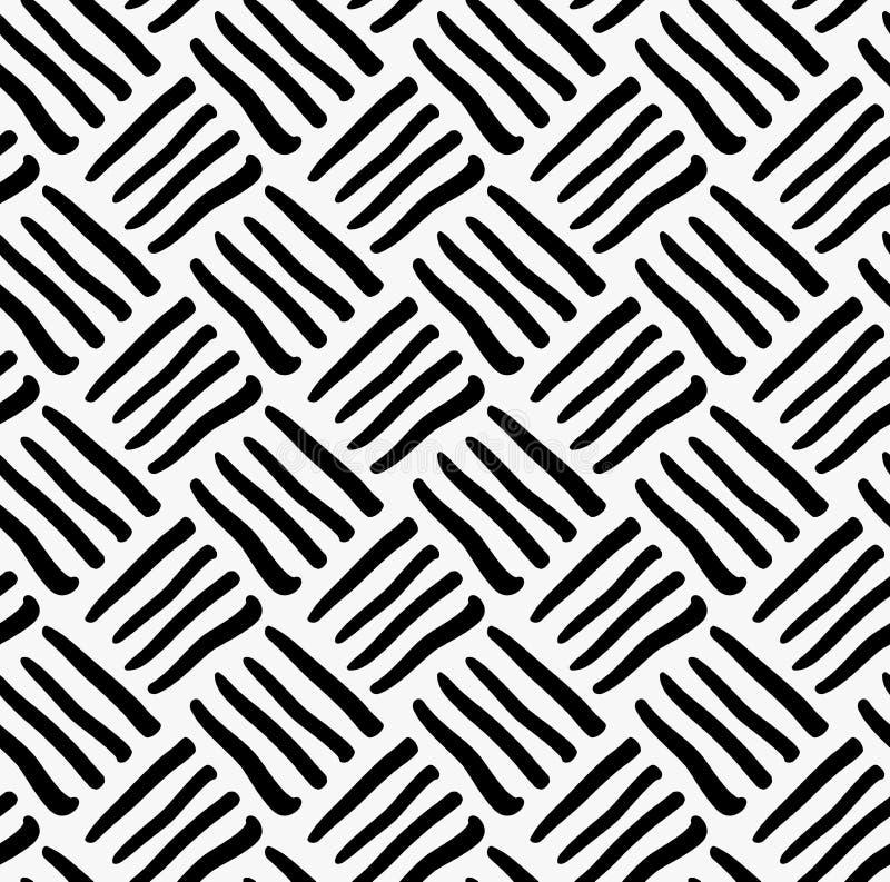 Marcador preto listras diagonais tiradas ilustração stock