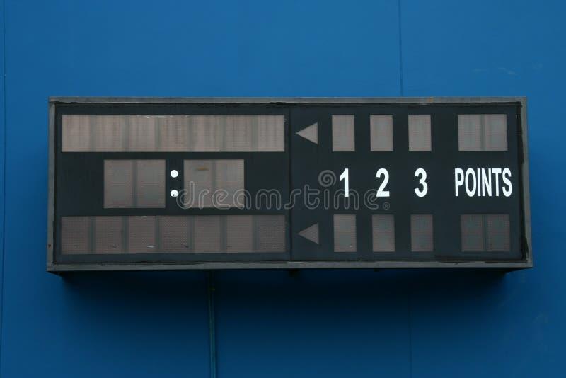 Marcador vacío del tenis imagen de archivo