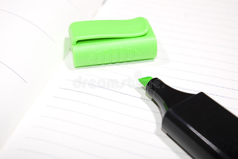 Marcador verde foto de stock