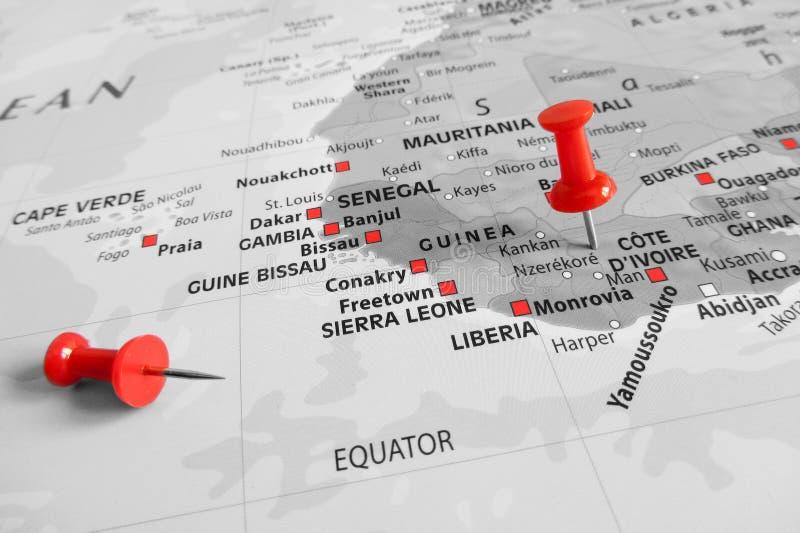 Marcador vermelho sobre o ` Ivoire da costa d fotos de stock royalty free