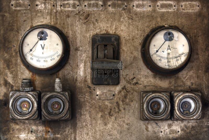 Marcador viejo en un lugar perdido abandonado fotografía de archivo