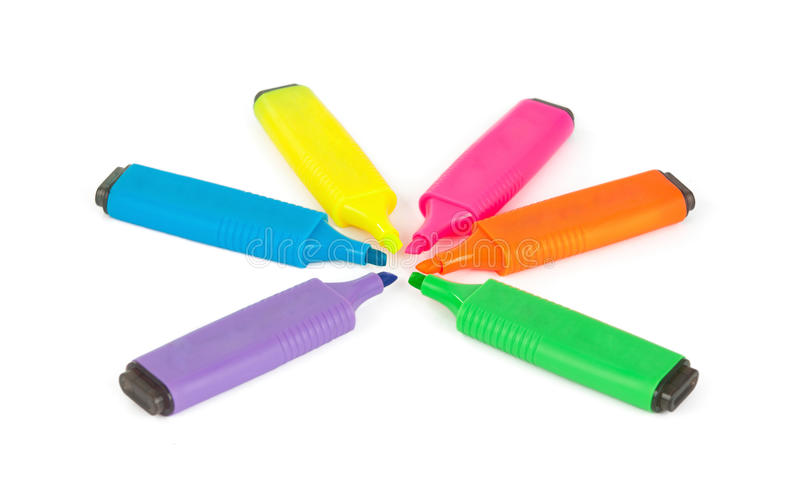 Marcadores da cor imagem de stock