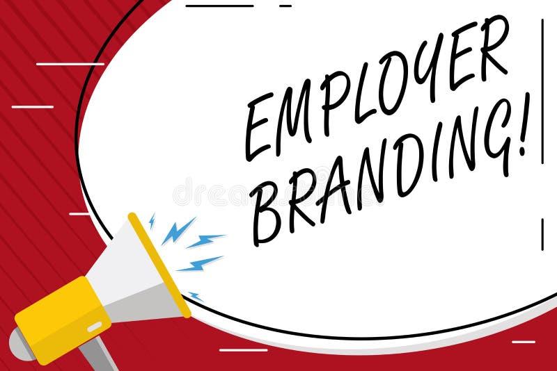 Marcagem com ferro quente do empregador da escrita do texto da escrita Significado do conceito que promove a escolha do empregado ilustração do vetor