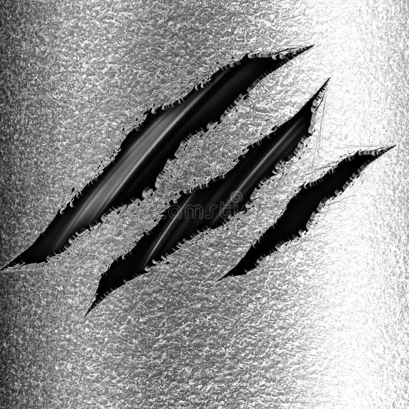 Marcas da garra ilustração do vetor