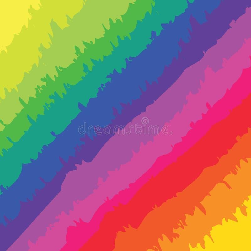 Marcas de cepillo del arco iris libre illustration