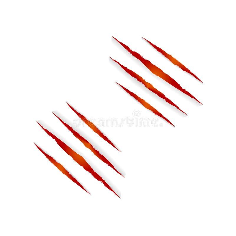 Marcas de Clows do vetor isoladas no fundo branco, no elemento colorido vermelho e alaranjado de Dia das Bruxas ilustração royalty free