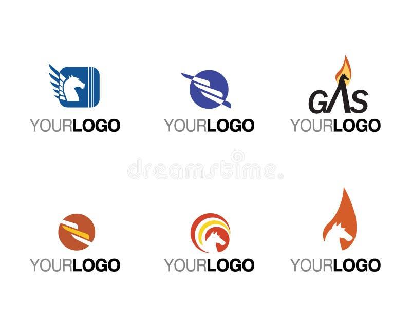 Marcas de fábrica e insignias del vector comerciales stock de ilustración