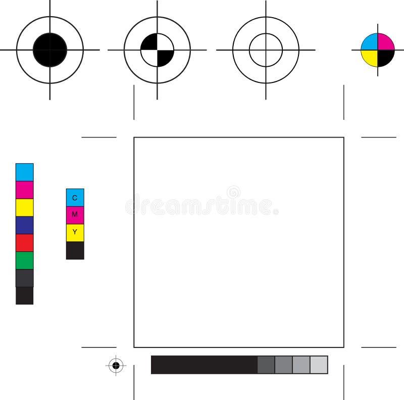 Marcas de impressora ilustração stock