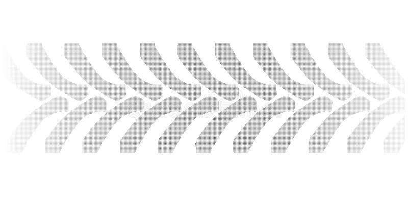 Marcas de intervalo mínimo do pneumático do trator no branco ilustração do vetor