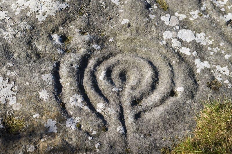 Marcas de piedra antiguas en el encaminamiento de Lynn imágenes de archivo libres de regalías