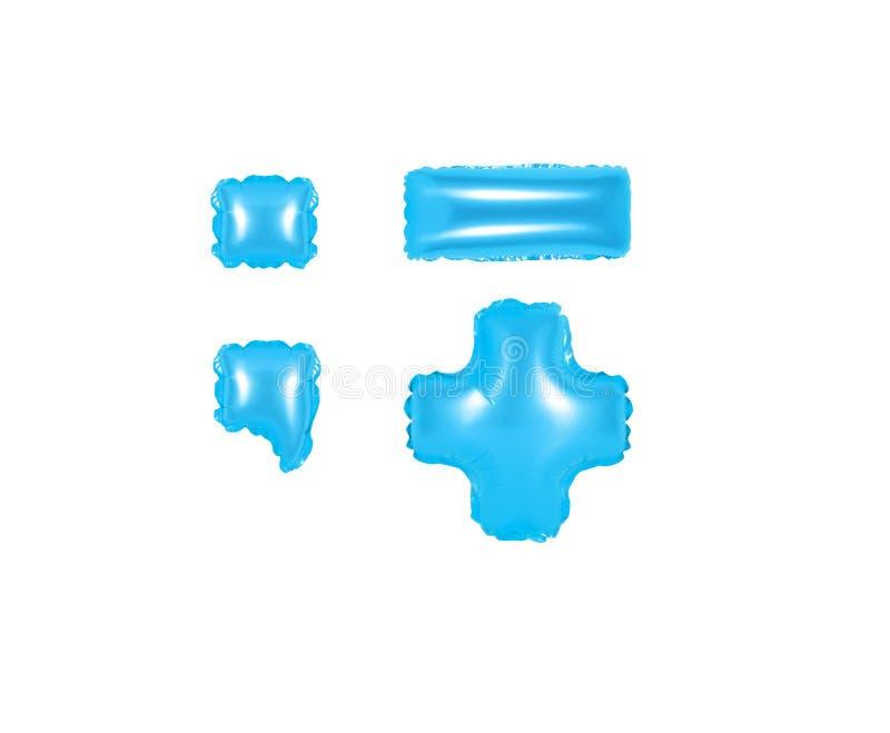 Marcas de pontuação, parte 2, cor azul fotografia de stock