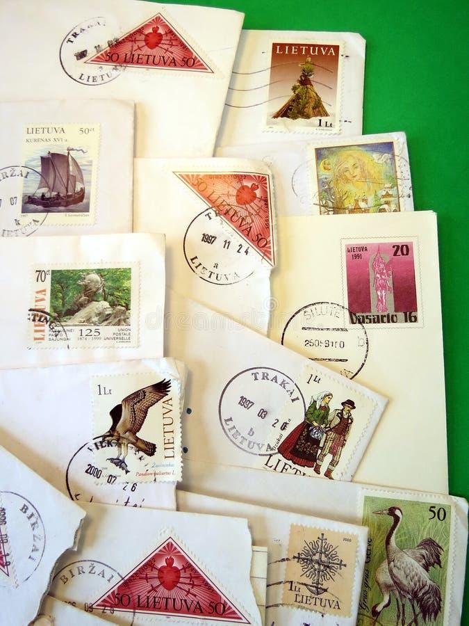 Marcas de poste foto de archivo