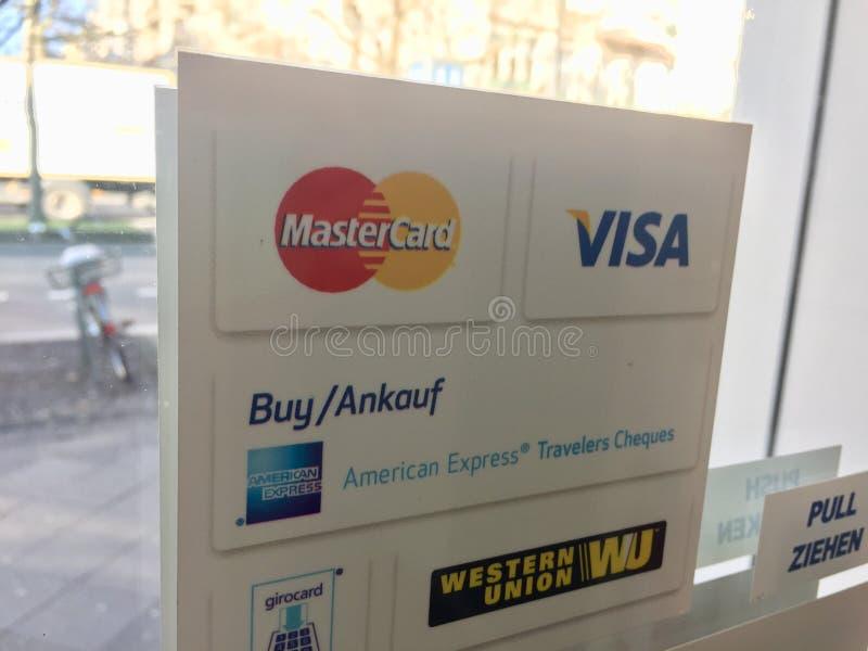 Marcas de sistemas de pago fotos de archivo
